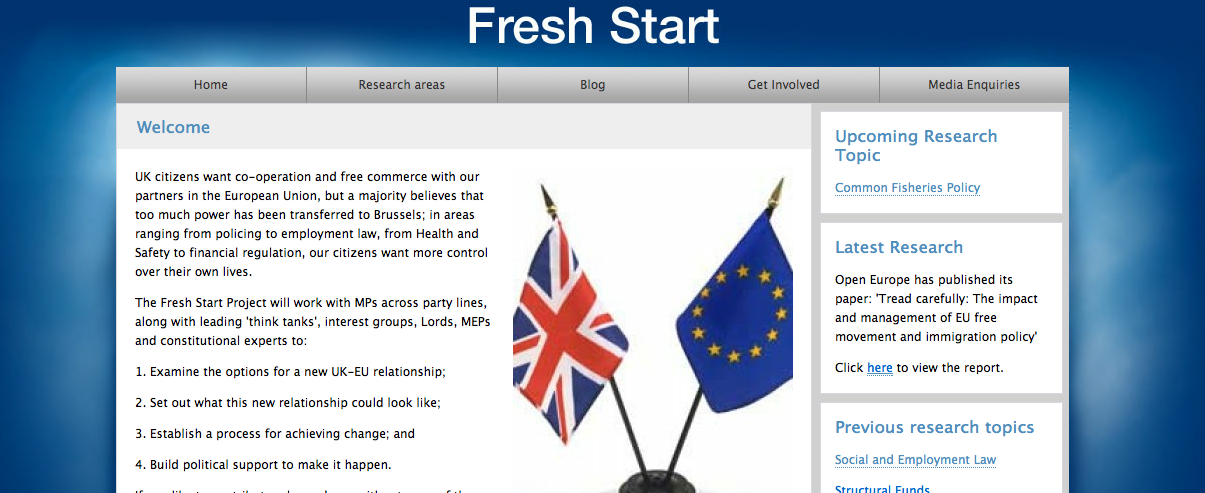 Nicholas Watt falls for EU Fresh Start ruse from a report that's not publicly available