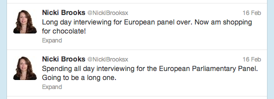 Right then, Nicki Brooks, Labour candidate for MEP in the East Midlands: what did you do?