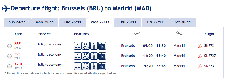 Why low cost carriers are killing the traditional carriers, in two screenshots