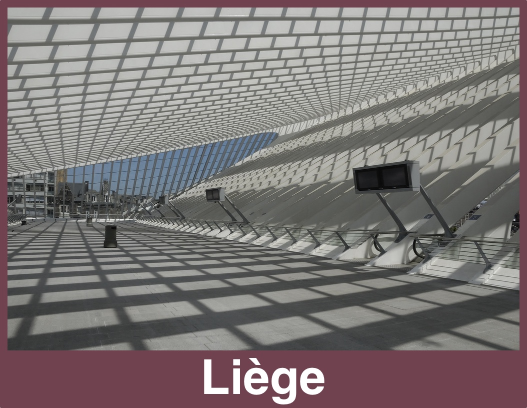 A rail postcard from Liège