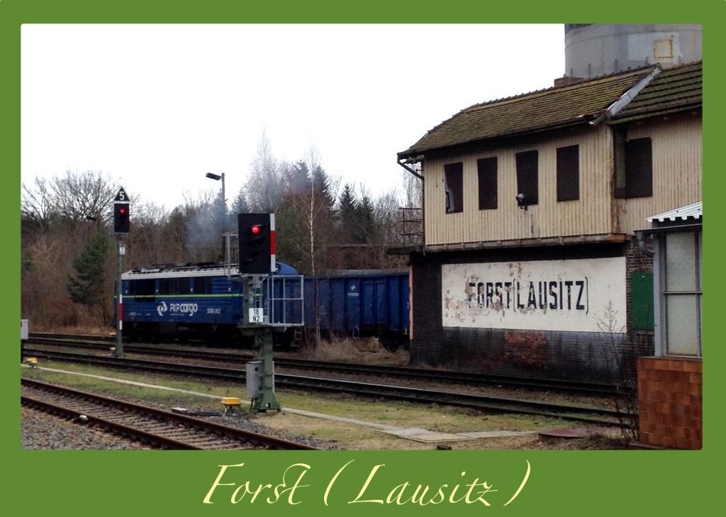 A rail postcard from Forst (Lausitz)