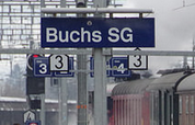 Non-Schengen compliant border control at Buchs SG station, 1 July 2015, 0700