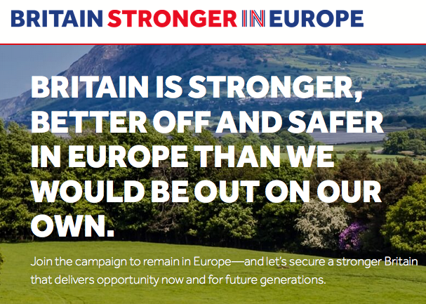 Britain Stronger in Europe – horrible framing and imagery, and a message bordering on the disingenuous
