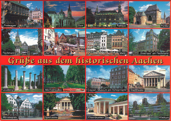 A rail postcard from Aachen